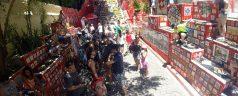 Escadaria de Selaron durante o passeio de City Tour da S2RIO